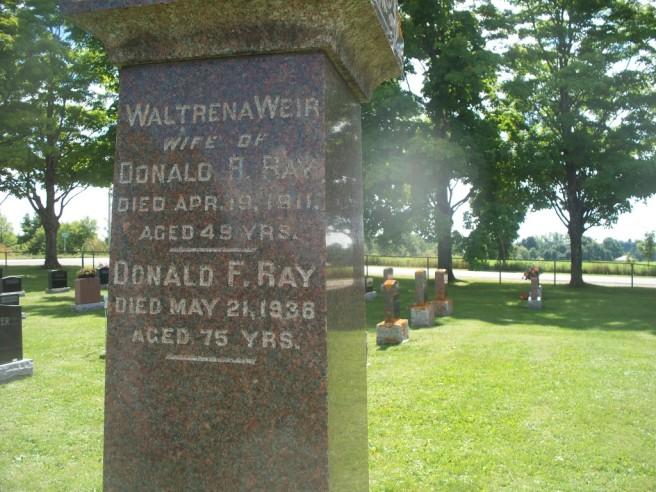 RAY DONALD MCFADYEN gravestone