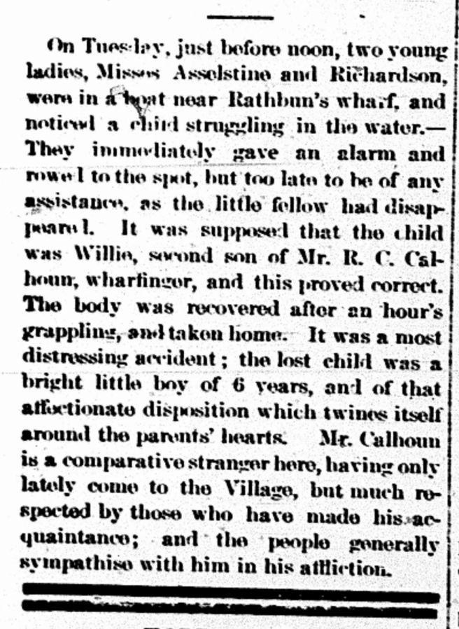 newspaper drowning report